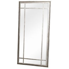 Large Metal Framed Industrial Style Mirror