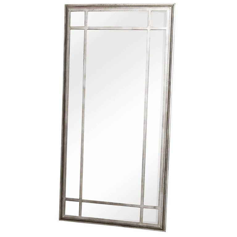 Large metal framed industrial style mirror for sale at 1stdibs for Metal frame mirror
