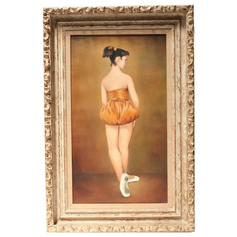 Oil on Canvas Painting of a Ballerina of Edith Tuchman