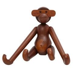 Kay Bojesen Monkey Ape Teak Signed, Denmark, 1950s