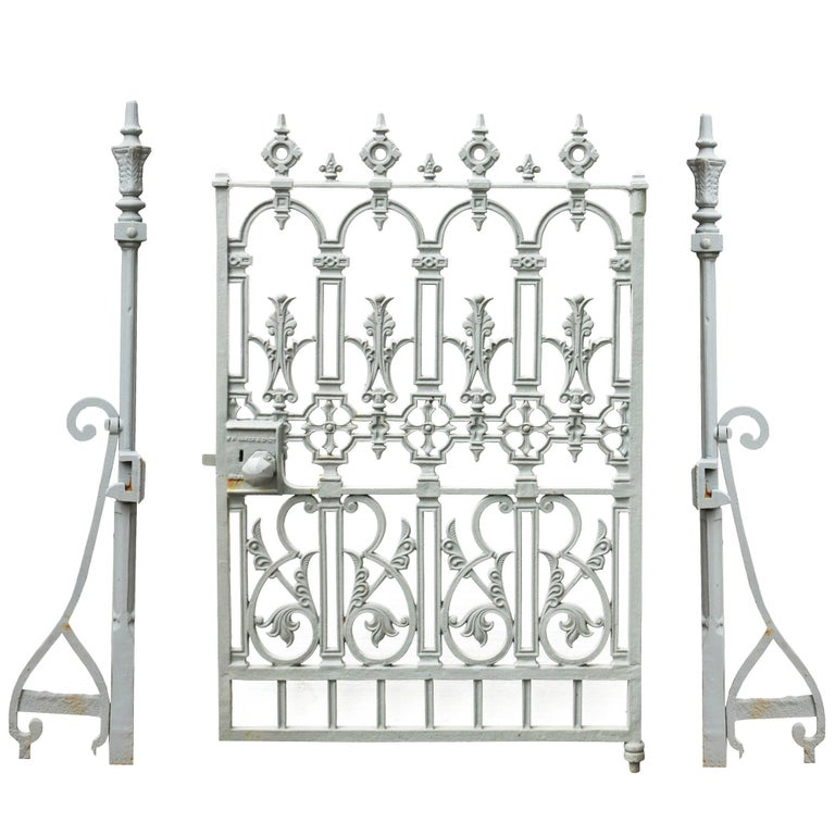 French or Spanish Wrought Iron Garden Gate, circa 1820 at