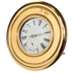 Late 19th Century Brass Table Watch or Strut Clock