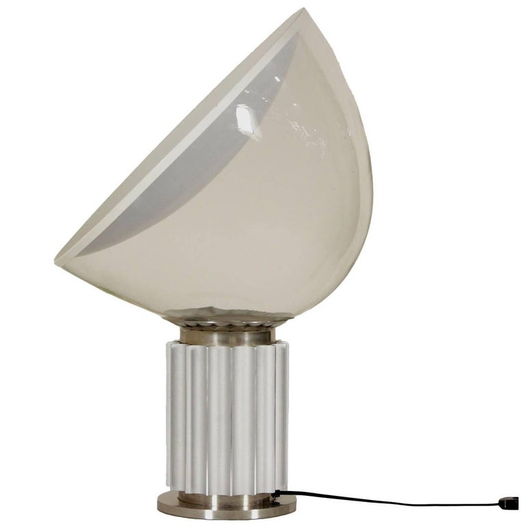 Taccia table lamp by castiglioni brothers for flos metal aluminium taccia table lamp by castiglioni brothers for flos metal aluminium glass 1960s for sale aloadofball Images