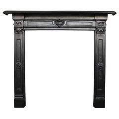 Antique Early Victorian Cast Iron Fireplace Surround