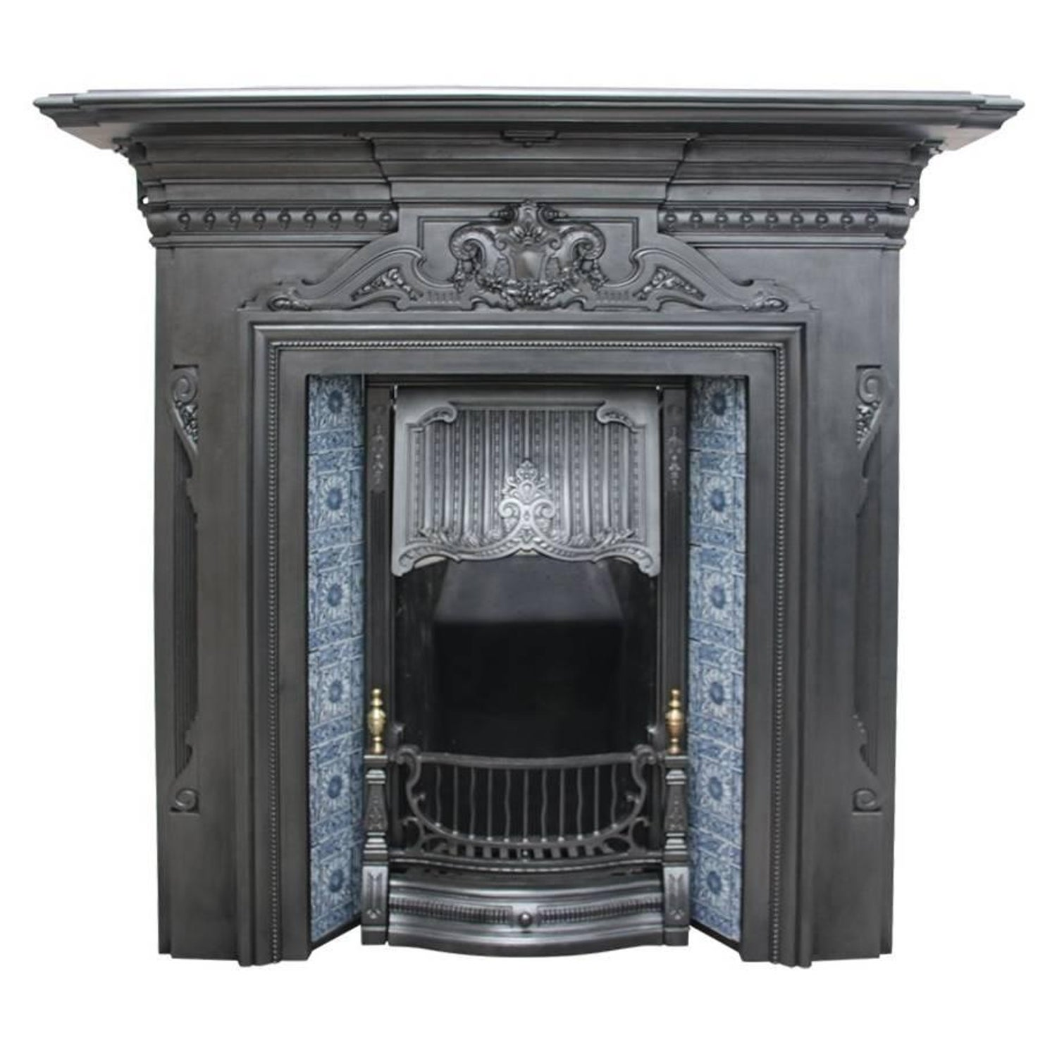 cast anson insert grate fireplace arched iron