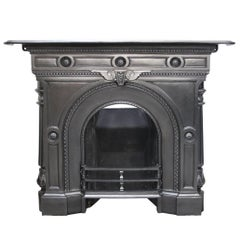 Mid-Victorian Cast Iron Combination Fireplace