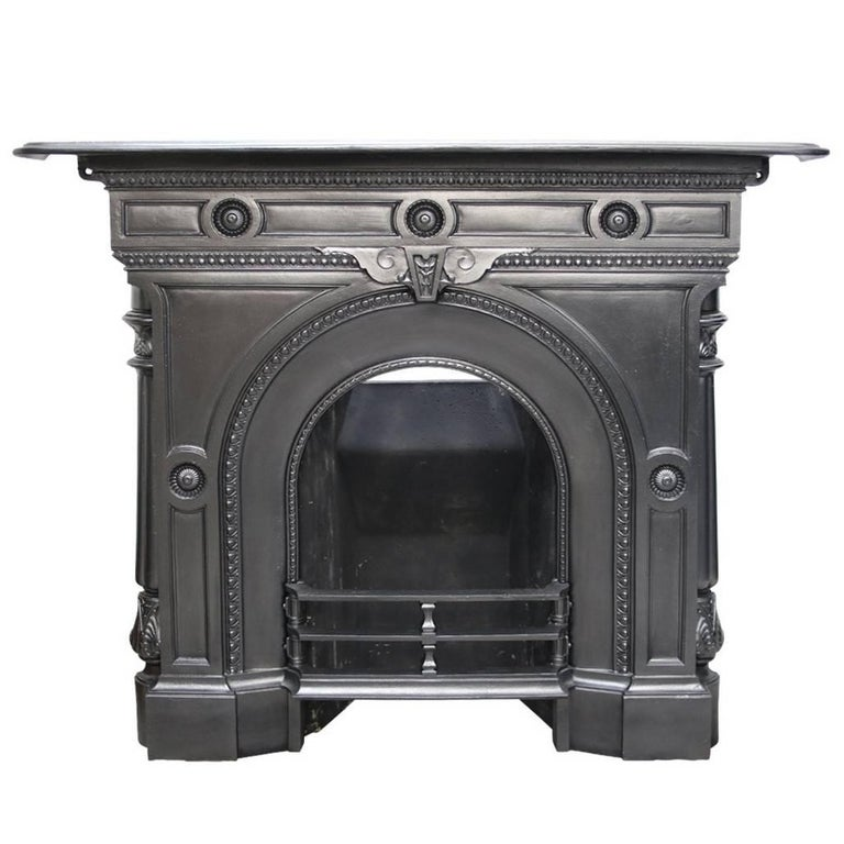 Mid victorian cast iron combination fireplace for sale at