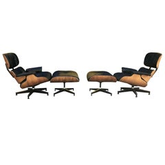 Eames for Herman Miller Lounge Chairs in Brazilian Rosewood