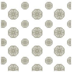 Porter Teleo White and Metallic Silver Teleo Contemporary Wallpaper Two-Roll Set