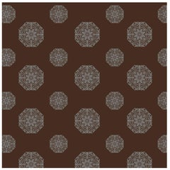 Porter Teleo Brown and Metallic Silver Teleo Contemporary Wallpaper Two-Roll Set