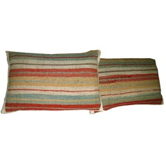 Pair of Antique Kilim Pillows, circa 1920