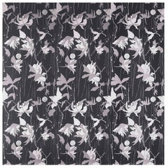 Porter Teleo Japanese Garden Violet Black Contemporary Wallpaper Two Roll Set