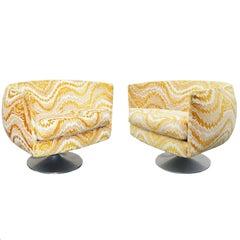Pair of Mid-Century Modern Swivel Tulip Lounge Chairs