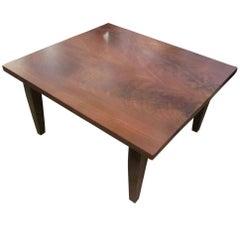 Customizable Walnut Square Coffee or Farm Table