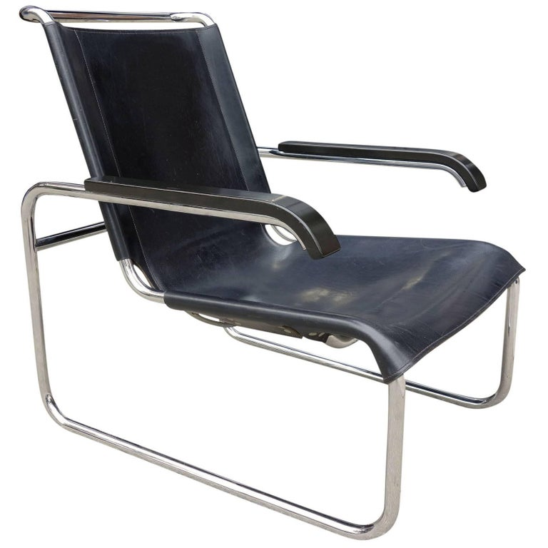 Two Midcentury Marcel Breuer B35 Lounge Chairs for Thonet