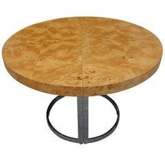 Mid-Century Dillingham Burl Wood Dining Table, style of Milo Baughman