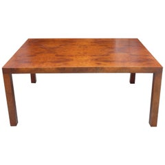Midcentury Milo Baughman Burl Wood Coffee Table