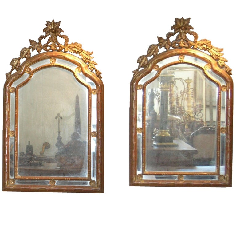 Pair of 19th Century Italian Giltwood Mirrors