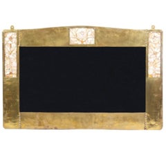 Liberty & Co, a Copper Mirror Inlaid with Glasgow Roses of Mother-of-Pearl