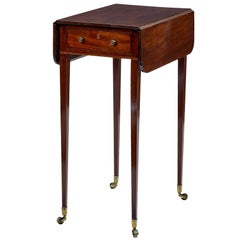 19th Century Regency Mahogany Small Drop-Leaf Table
