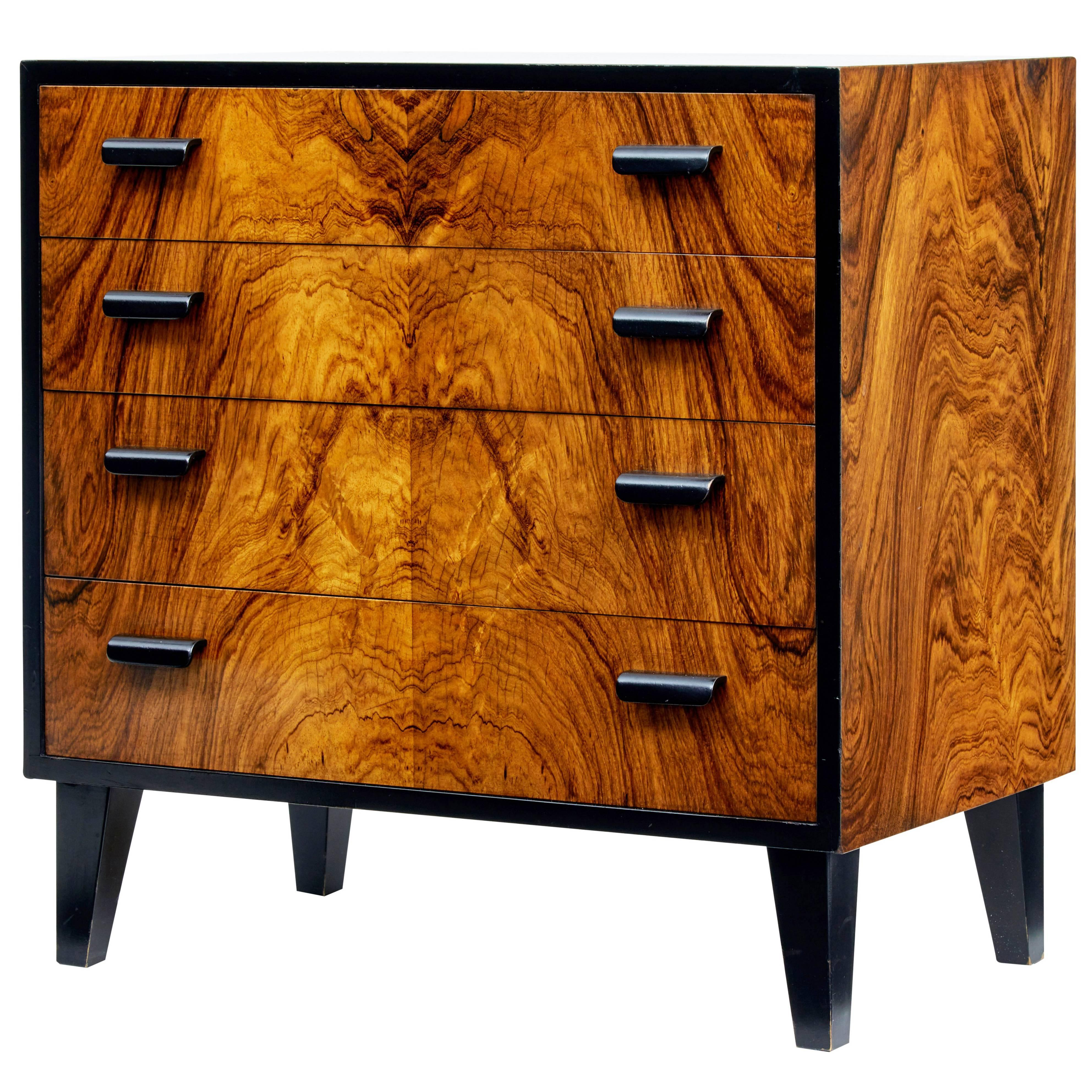 1950s art deco design small chest of drawers