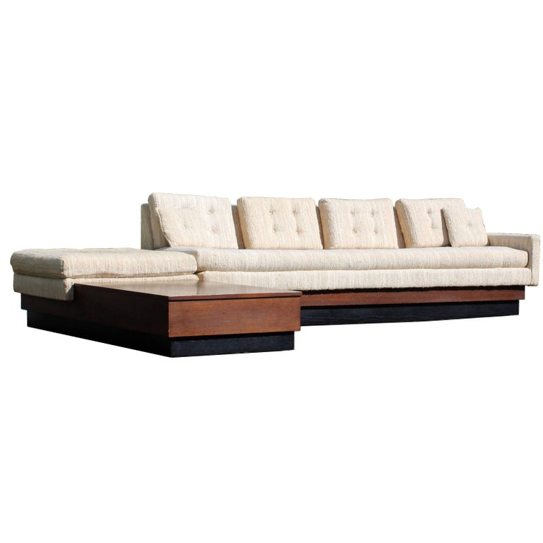 Curved Or Circular Mid Century Modern Modular Sofa With