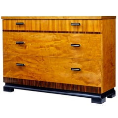 1950s Scandinavian Modern Deco Small Chest of Drawers