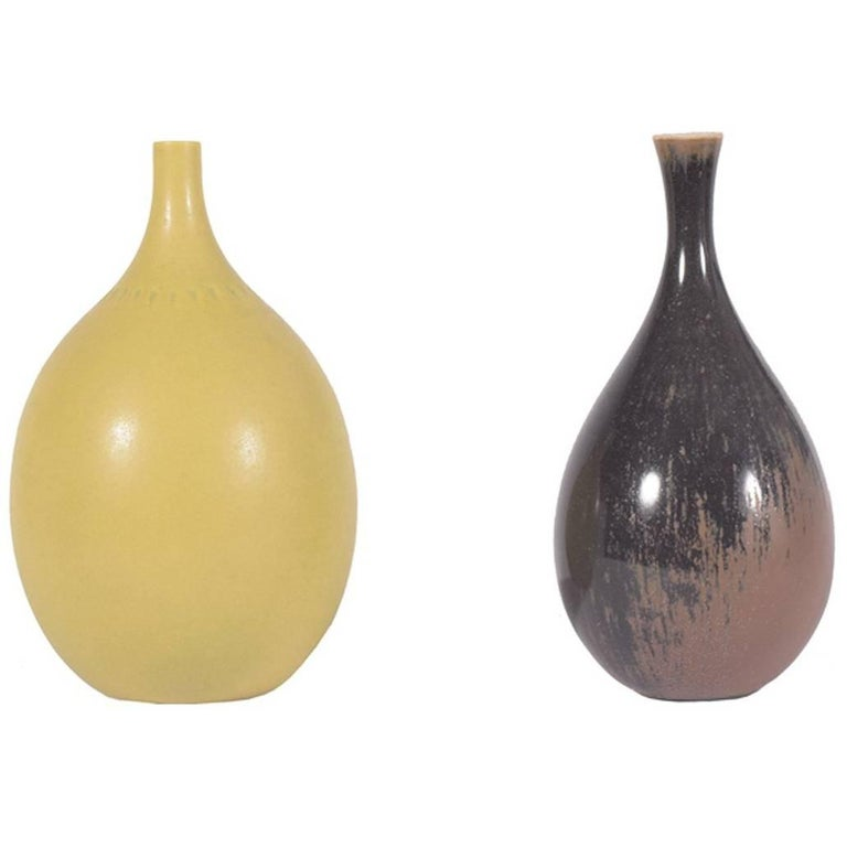Mini Vases by Berndt Friberg for Gustavsberg Right one Sold For Sale