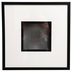 Original Victor Vasarely Oeuvres Profondes Framed 3D Op Art Print