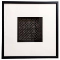 Original Victor Vasarely Oeuvres Profondes Framed 3D Op Art Print