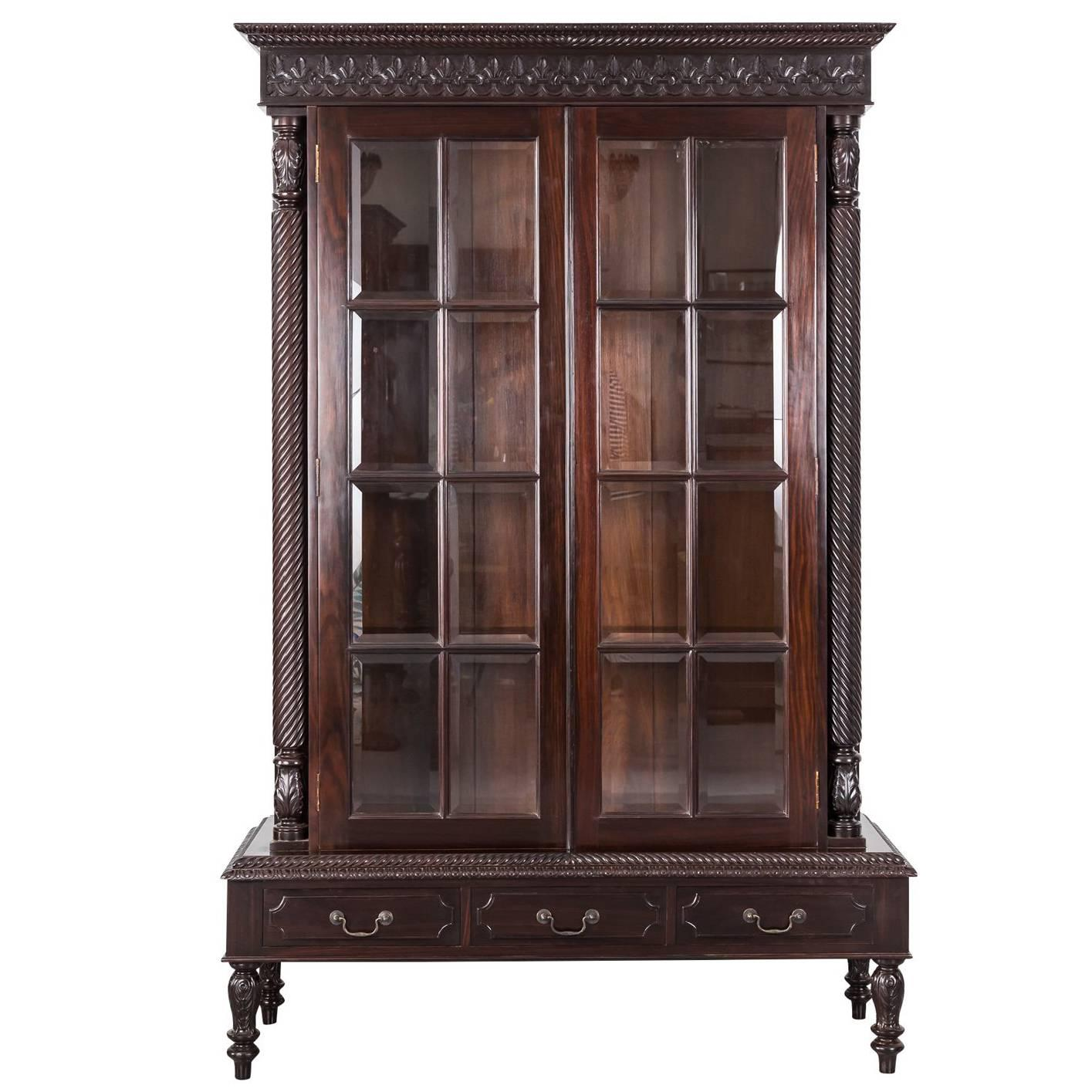 Antique Anglo-Indian or British Colonial Rosewood Cabinet on Stand ...