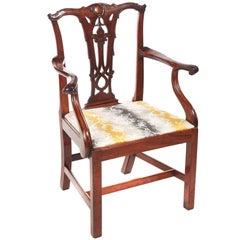 George III Mahogany Elbow/Desk Chair