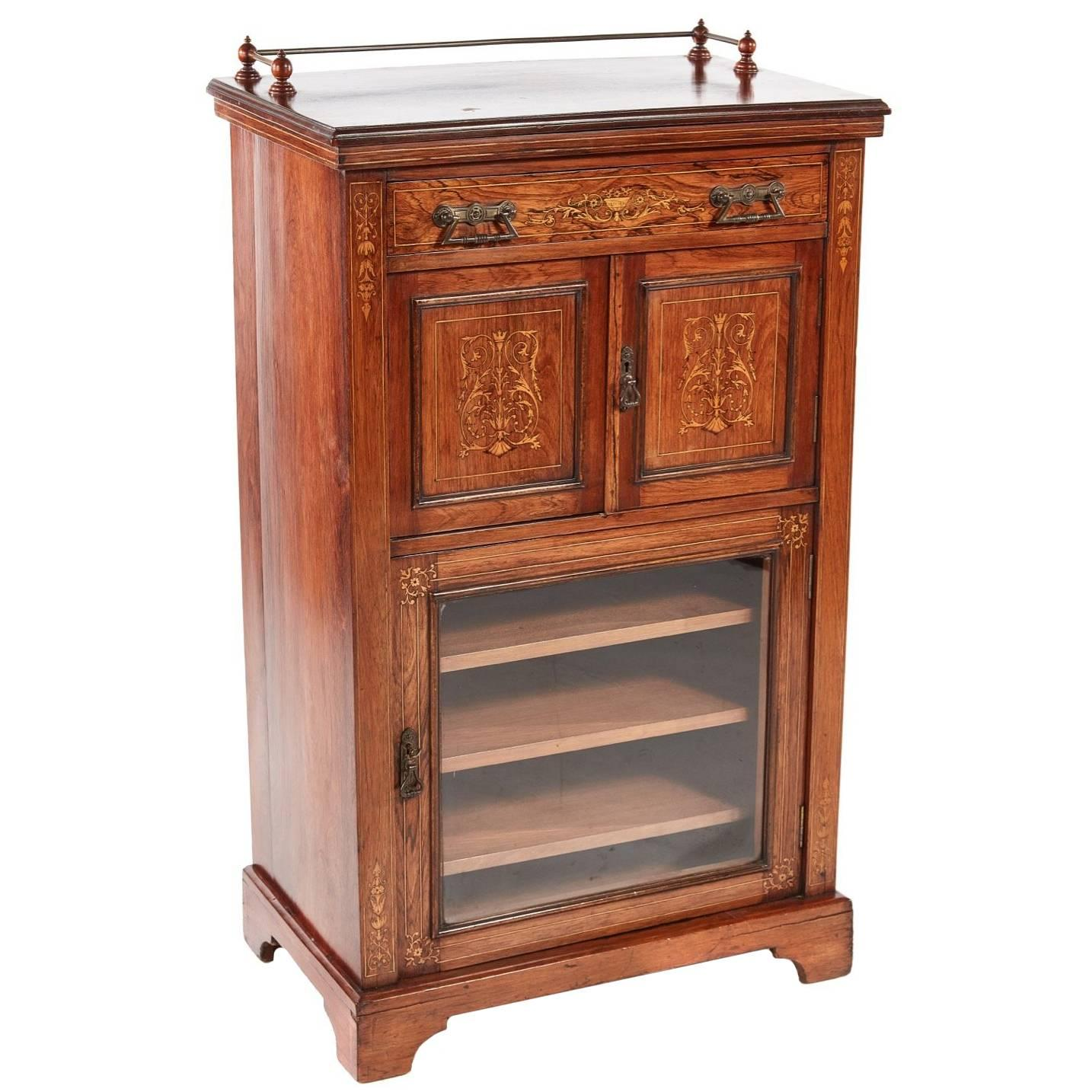 Gentil Good Quality Rosewood Inlaid Music Cabinet For Sale