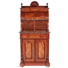 Fantastic Victorian Burr Walnut Dentist Cabinet
