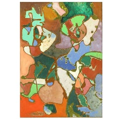 William H Littlefield Abstract Mixed-Media on Board
