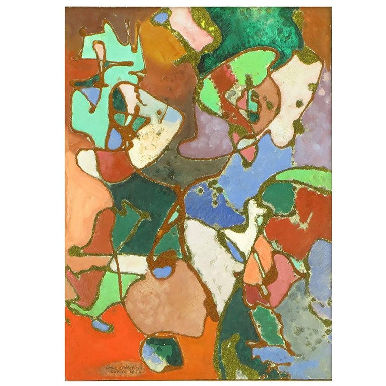 William H Littlefield Abstract Mixed-Media on Board For Sale