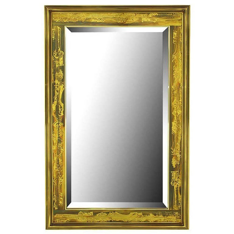 Mastercraft Bernhard Rohne Acid-Etched Frame Bevelled Mirror For Sale