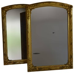 19th Century Pair of Charles X Gilded Mirrors