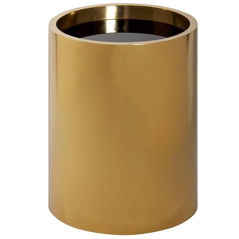 Alphaville Honed Brass Petite Accent Table