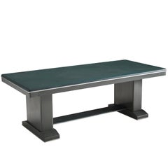 Dutch Writing Table with Brushed Metal Base