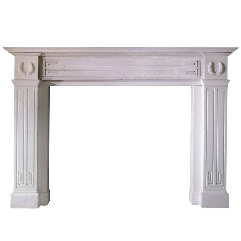 Early 19th Century Irish Statuary Marble Mantel