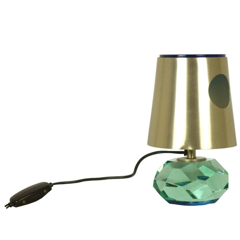 Rare Glass 2228 Table Lamp by Max Ingrand for Fontana Arte, 1965