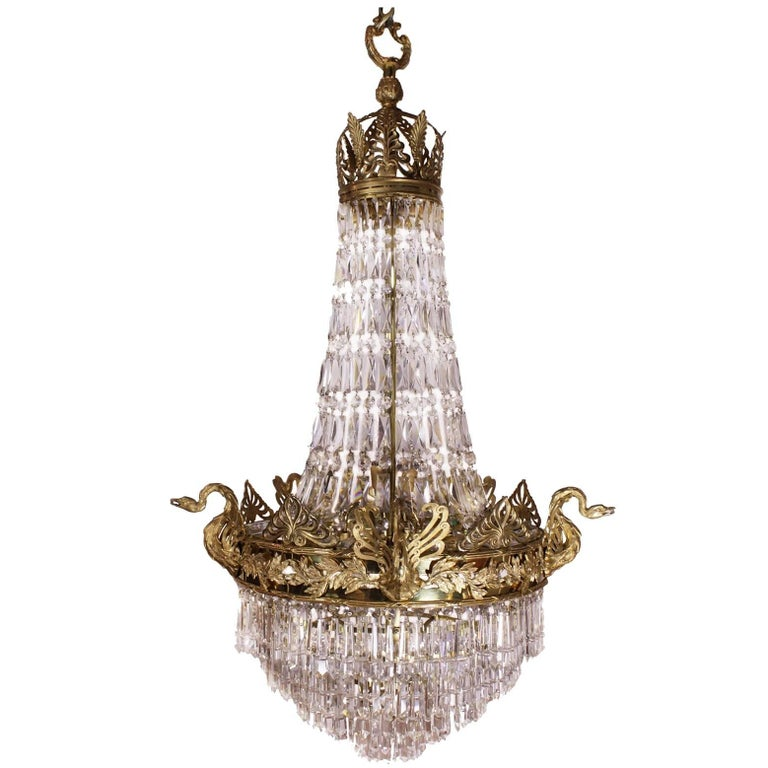 19th Century Chandelier With Swans For Sale At 1stdibs