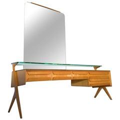 Mid-Century Modern Italian Vanity Dresser by Vittorio and Plinio Dassi, 1950s