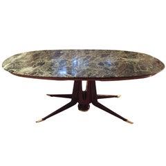 Mid-Century Modern Italian Dining Table Guglielmo Ulrich Style, 1950s