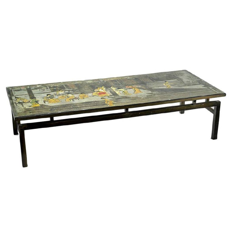 Etched Brass Laverne Coffee Table