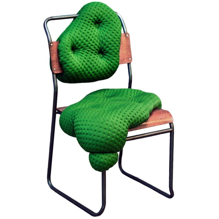 """""""Hi!breed"""" Bespoke Chair With Biomorphic Upholstery On Vintage Chair Frame  For Sale"""