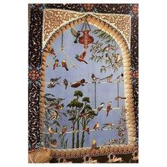 Pale Blue Sky, Rare Hand-Knotted Tabriz Carpet