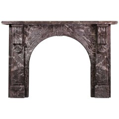 Victorian Arched Marble Mantel with St. Annes Marble Corbels 'VIC-W67'