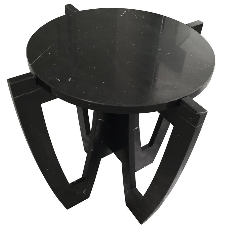 Black Marble Cocktail Table, Italy, Contemporary